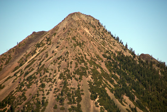 Close-up of the summit of Black Butte