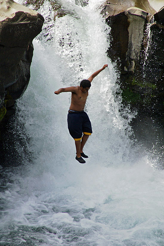 Lower McCloud Falls Plunge. Photo by John Soares