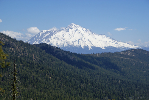 Mount Shasta from the Pacific Crest Trail. (Photo by John Soares)