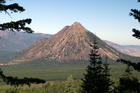 Black Butte from the slopes of Mount Shasta