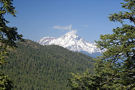 Mount Shasta from the Pacific Crest Trail near Seven Lakes Basin. (Photo by John Soares)